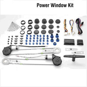 Universal 2 door electric power window conversion kit car for 2 door power window switch kit