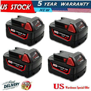 4X-For-18V-Milwaukee-M18-Lithium-Ion-XC-5-0-Extended-Capacity-Battery-48-11-1852
