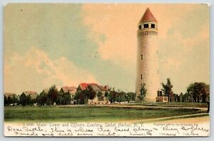 Sacket-Harbor-NY-Madison-Barracks-Water-Tower-Fort-Pike-Officers-Quarters-c1905