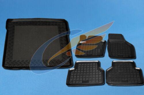 Gummi-Fußmatten+Kofferraumwanne AUDI Q3 8U 2011-heute mit Notrad