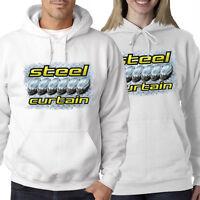 Steeler Curtain White Hoodie Sweatshirt M L Xl 2x 3x 4x 5x Pittsburgh Men Ladies