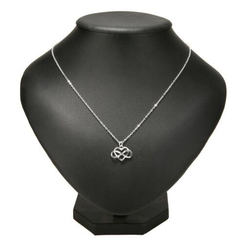 Collar con remolque corazón amor eterno regalo valentin plata #hz2