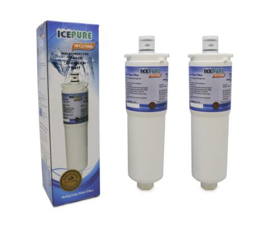 2 x IcePure RFC2700A Siemens//Bosch//NEFF CS52 Compatible Fridge Water Filter