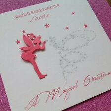 personalised handmade fairy christmas card girlfriend grand daughter wife sister - Christmas Card For Girlfriend
