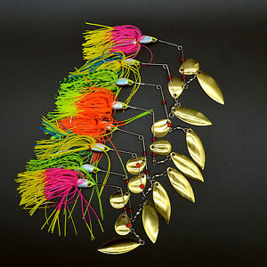 10 lot Umbrella skirts DIY Buzzbaits Spinner Buzz Bait fishing Silicone SF027