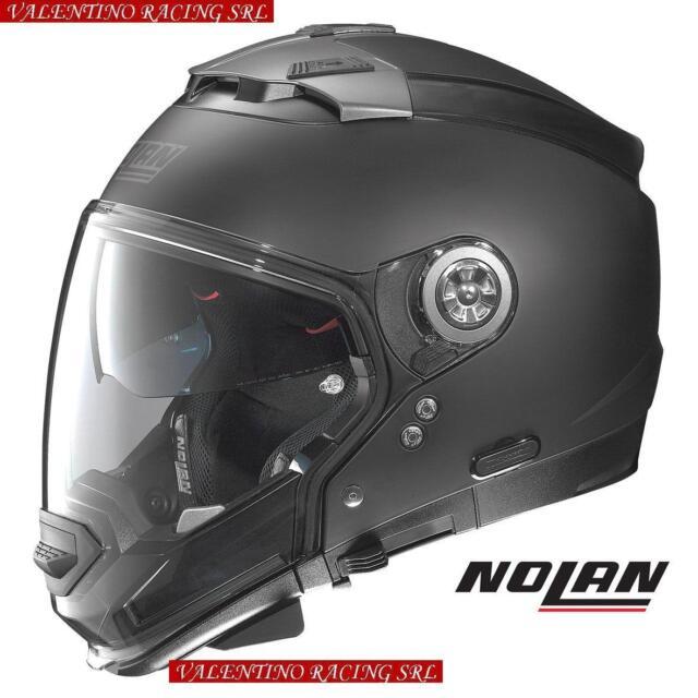 CASCO NOLAN N 44 EVO CLASSIC N-COM NERO FLAT BLACK 010 NERO OPACO TAGLIA M