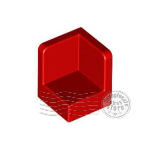 6x LEGO 6231 Pannello Angolo 1x1x1 Rosso623121
