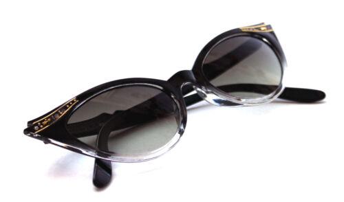 Cat Eye Sonnenbrille schwarz transparent Rockabilly 309