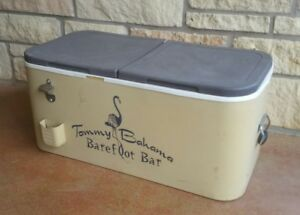 Tommy Bahama Barefoot Bar Cooler Ice Chest Drink Holder