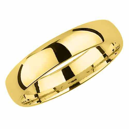 Brand New Hallmarked 9ct Yellow Gold Wedding Ring Court Shaped