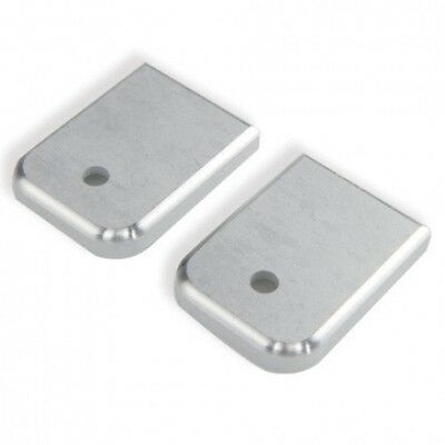 (Qty 2) Aluminum Magazine Base Plate Two-Pack for Glock T0962 Many Colors
