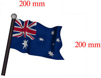 10 X Australia Flag Flag Decal 200mm By 200mm Gloss Laminated Left & Right