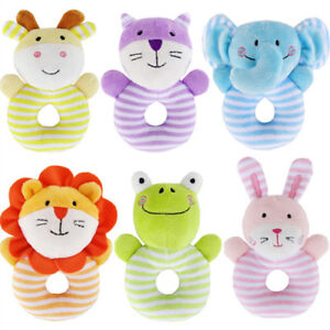 Infant-Baby-Toy-Kids-Gift-Animal-Cartoon-Hand-Bell-Ring-Rattles-Kid-Plush-Toy-S