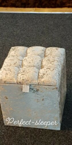 STORAGE BOX IN SILVER CRUSHED VELVET NEW RETRO VINTAGE DRESSING TABLE STOOL