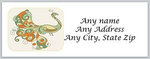 Image Is Loading Personalized Return Address Labels Peacock Buy 3 Get