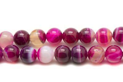 Perles de Pierre Agate Violette Boules 6mm Fil 39cm 63pc env