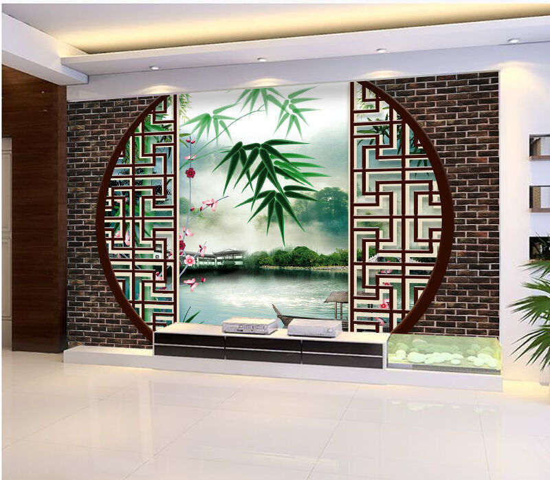 3D Screen ink painting Wall Paper wall Print Decal Wall Deco Indoor wall Mural