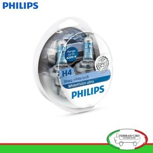2-Lampade-Philips-H4-White-Vision-Ultra-4200K-12v-55-60-W-Sharp-White-Look