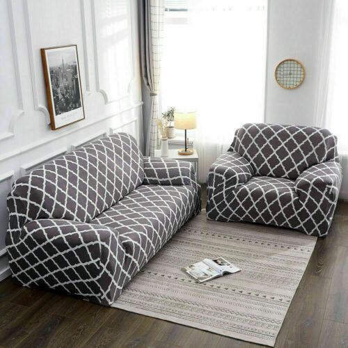 Stretch 3-Seater Sofa Covers Elastic Slipcover L-shape Sectional Couch Protector