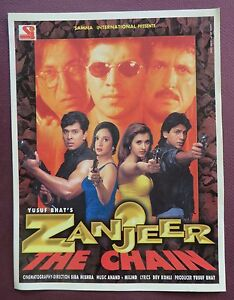 Indian Movie Zanjeer The Chain 1998 Press Book Song Booklet