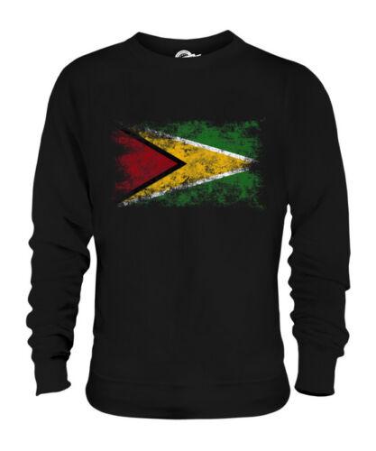Maglione Effetto Bandiera Guyana Della Calcio Unisex Francese Consumato df6wIwq