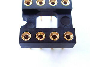 DIP8 8 Pin Gold-Plated Socket,For OPAMP, x10PCS