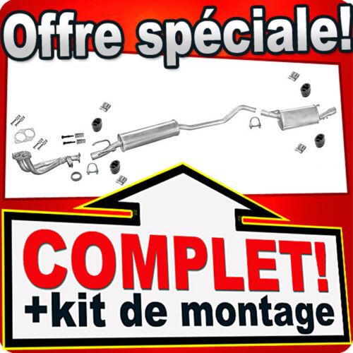 Tuyau Silencieux E93 Ligne pot d/'échappement OPEL TIGRA 1.4 1.6