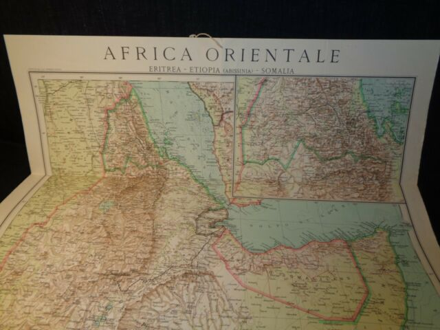 Cartina Mondo Orientale.Carta Cartina Africa Orientale Scala 1 3500000 61x83 Cm Fascismo Anni 40 Ebay