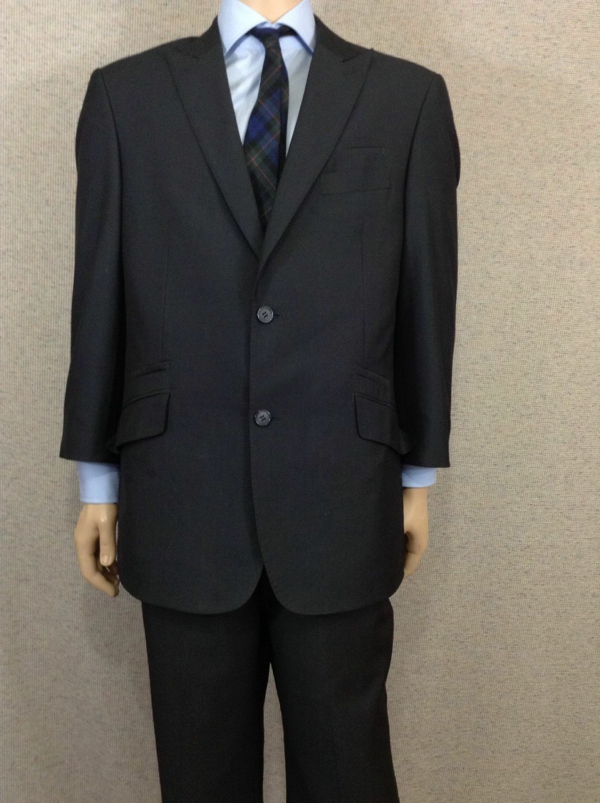 English Laundry  Herren Navy Two Button Single Vent Fully Lined Suit 42R 38X27
