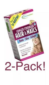 Details About 2 Pk Applied Nutrition Longer Stronger Hair And Nails 60 Count Exp 12 19