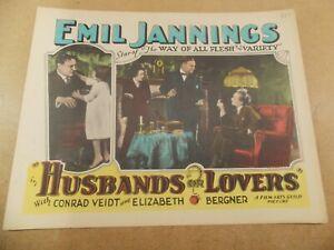 "HUSBANDS OR LOVERS(1927)EMIL JANNINGS ORIGINAL 11""BY14"" LOBBY CARD"
