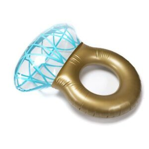 Giant Inflatable Diamond Engagement Ring Pool Float Summer Beach Swimming Toy