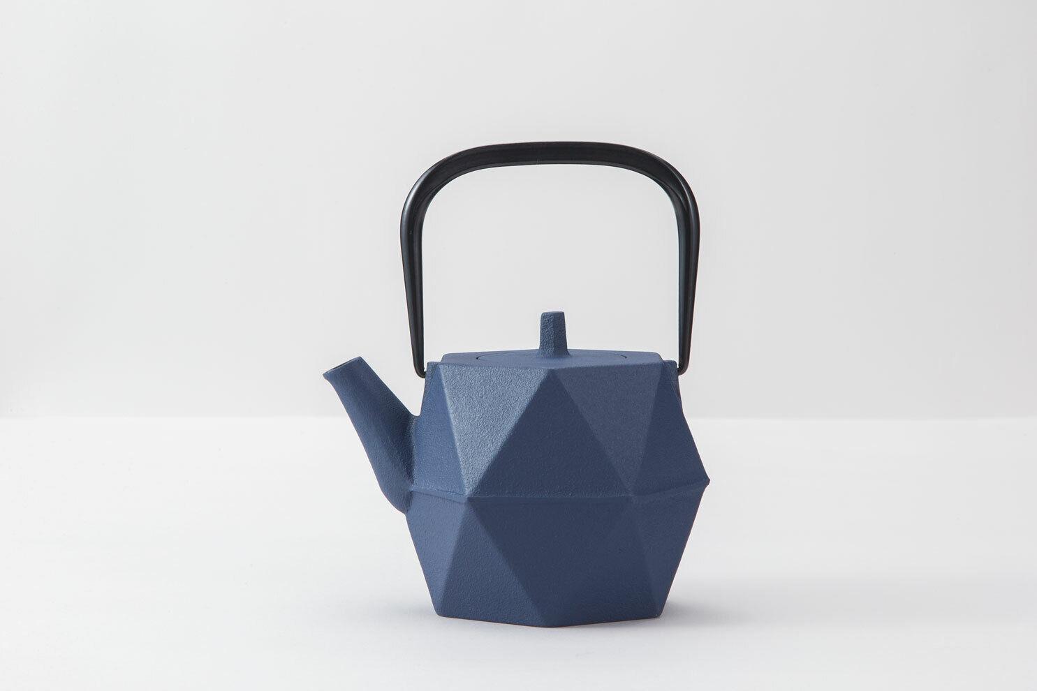IWACHU Tea Pot & plaque en fonte 0.7 L Origami motif bleu européen F S du Japon
