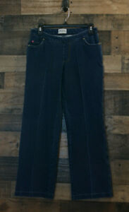 b93a6319a4c Womens Pajama Jeans Blue Bootcut Size Medium Jeggings Stretchy Pants ...