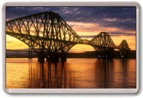 Sunset Large Jumbo UK Scotland FORTH BRIDGE FRIDGE MAGNET