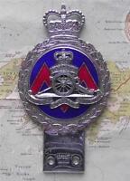 Original Vintage Car Mascot Badge British Army Royal Artillery Badge by Gaunt