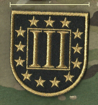 FREEDOM DEFENDER for AMERICA US HEROES HOG BIKER INSIGNIA: Gold Metallic 3%er