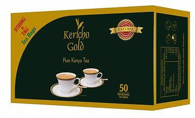 KENYA TEA - KERICHO GOLD - TEA BAGS - 25/50/100 PACK