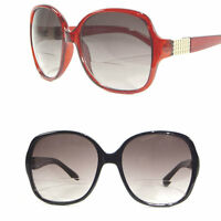 Women's Oversized Bifocal Reading Sunglasses Butterfly Designer Style Sun Reader
