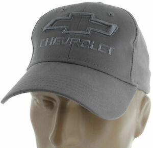Chevy Chevrolet SS Gray Baseball Cap Trucker Hat Snapback Camaro Silverado