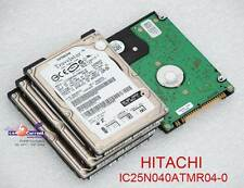 "40 GB 2,5"" 6,35cm IDE HDD FESTPLATTE HITACHI IC25N040ATMR04-0 08K0633 DEFEKT #K"