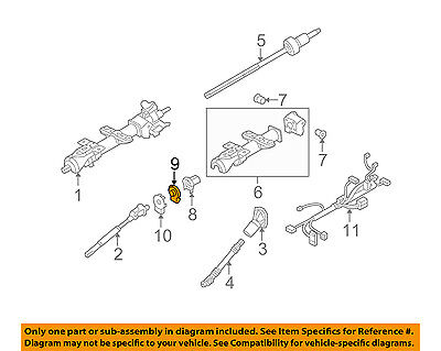 Hummer GM OEM 08-09 H2 Steering Column-Position Sensor 25855607