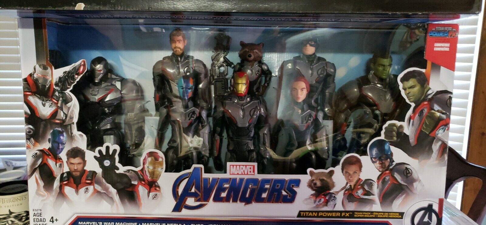 2019 Marvel Avengers mossa finale TITAN HERO Series 12 azione cifra squadra Confezione da 8