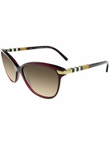 Burberry-Women-039-s-Gradient-BE4216-301413-57-Red-Butterfly-Sunglasses