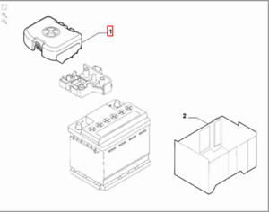 Genuine-Brand-New-Alfa-Romeo-Giulietta-Battery-Positive-Terminal-Cover-50518310