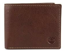 NEW TIMBERLAND MEN'S PREMIUM GENUINE LEATHER PASSCASE WALLET BROWN D10218/01