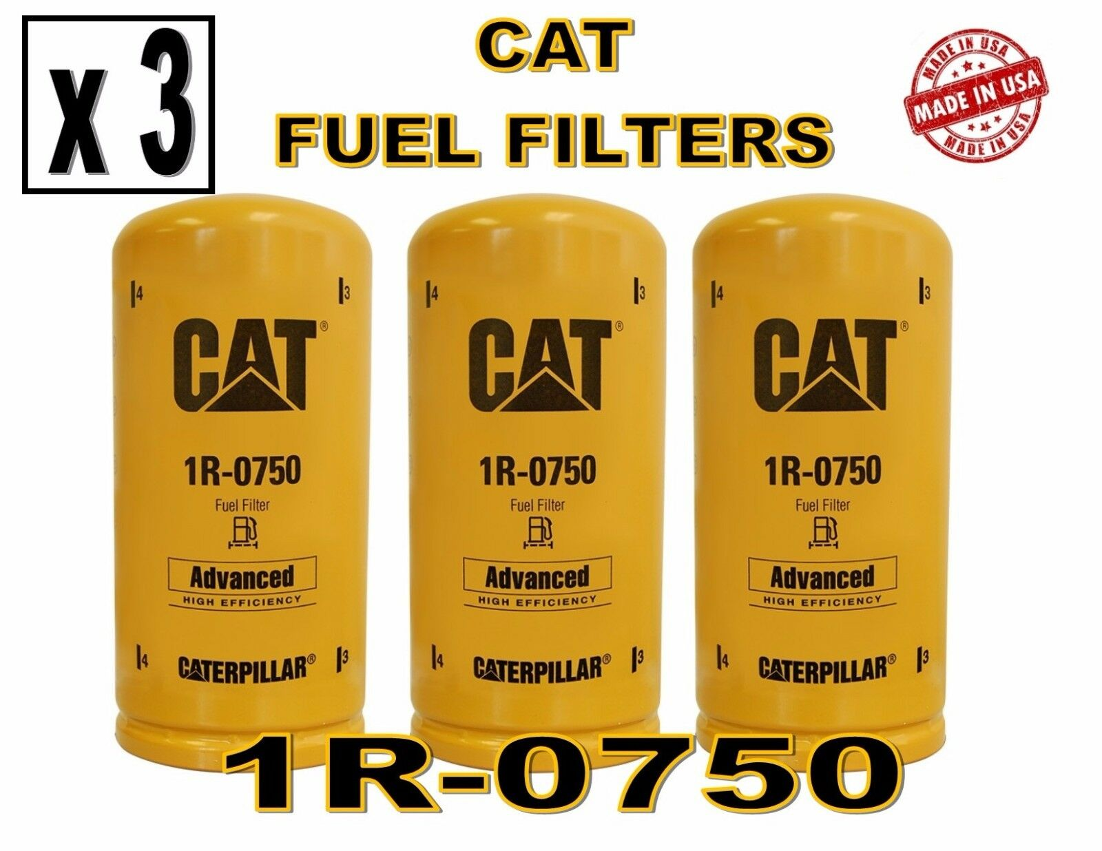 Caterpillar. Fuel Filters. OEM # 1R-0750
