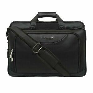 Priority 17 Inch Leather Shoulder Sling Laptop Messenger Bag For Unisex