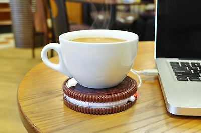 Hot Cookie USB Cup Warmer Tea and Coffee Mug Stand - Keep Your Drink Warm