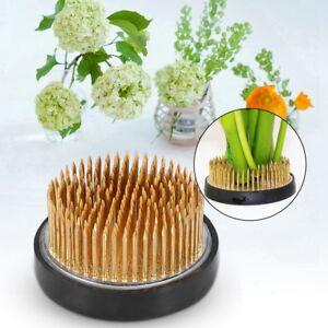 Round-Ikebana-Kenzan-Flower-Frog-with-Rubber-Gasket-Art-Fixed-Arranging-Tools